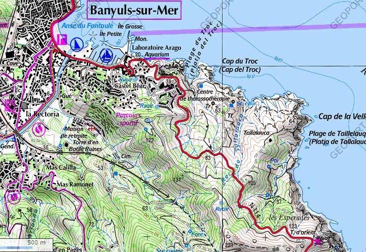 Banyuls – Cap l'Abeille (La Vella) – Plage de Taillelauque