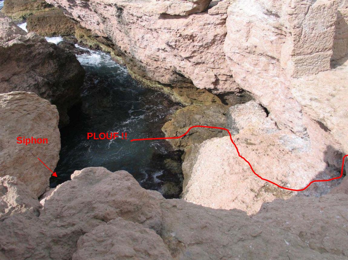 La piscine pour la mise à l'eau avec accès au siphon
