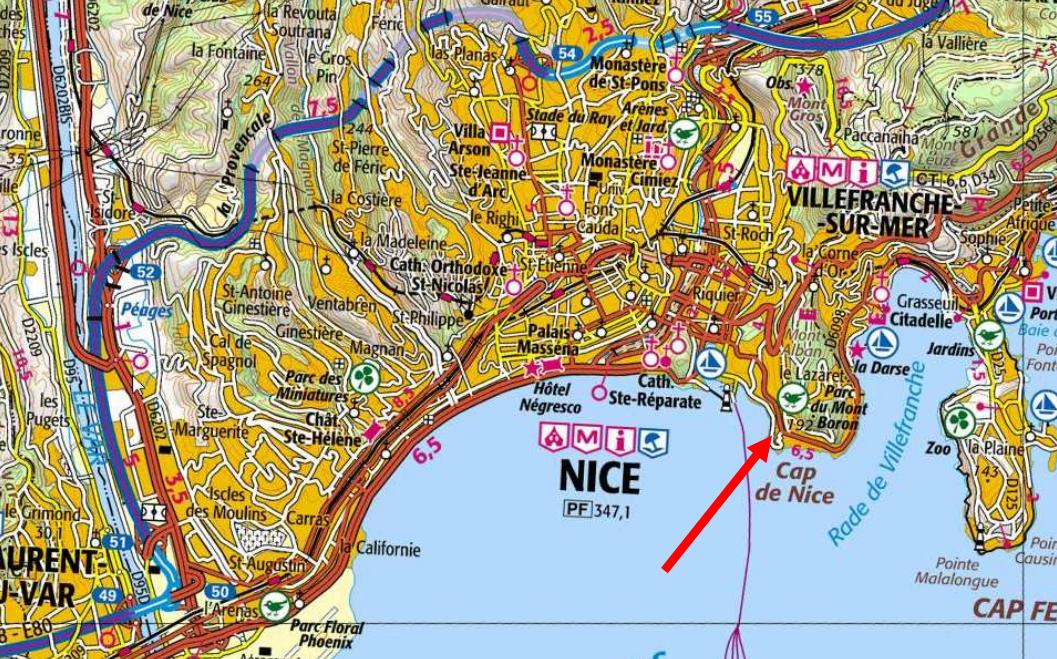 Spot de plongée profonde trimix à Nice
