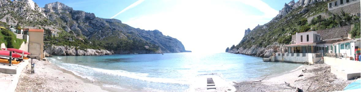 Le point de mise à l'eau sur la plage