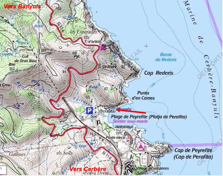 Sentier sous-marin Cerbère-Banyuls